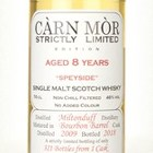 Miltonduff 8 Year Old 2009 - Strictly Limited (Càrn Mòr)
